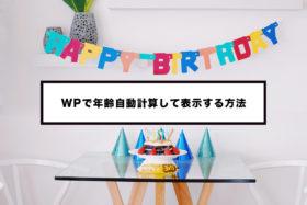 WordPressで生年月日から年齢を自動計算して表示する方法!プロフィール等におすすめ!